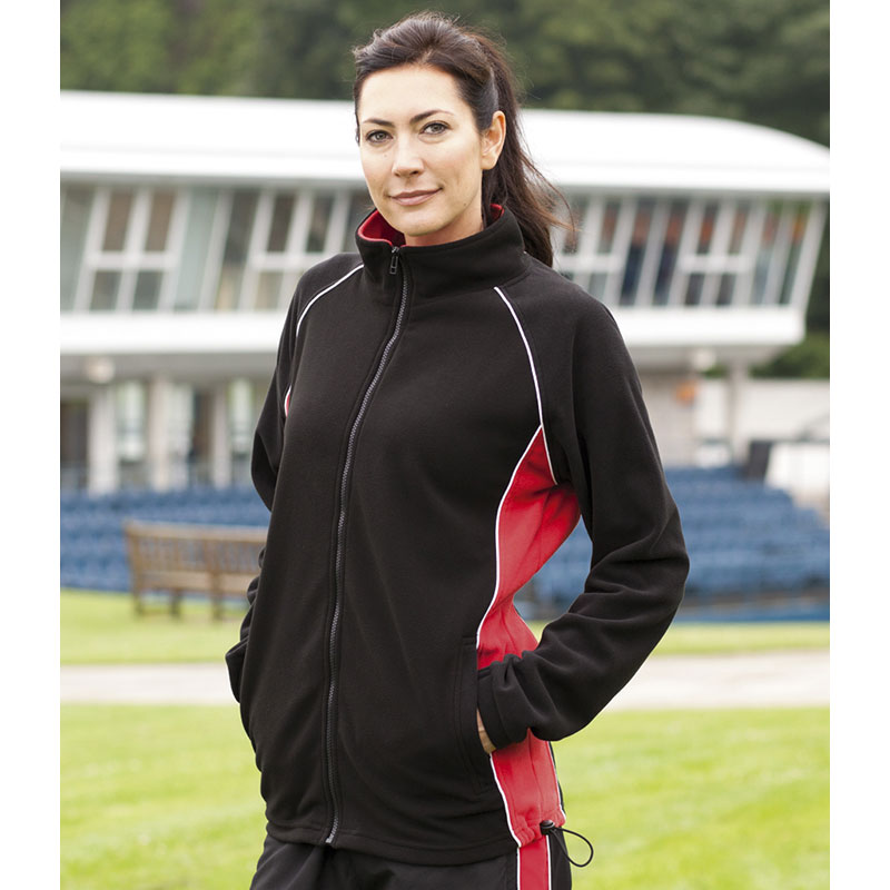 Finden & Hales Ladies Contrast Micro Fleece Jacket