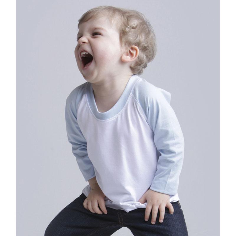 Larkwood Baby/Toddler Long Sleeve Baseball T-Shirt