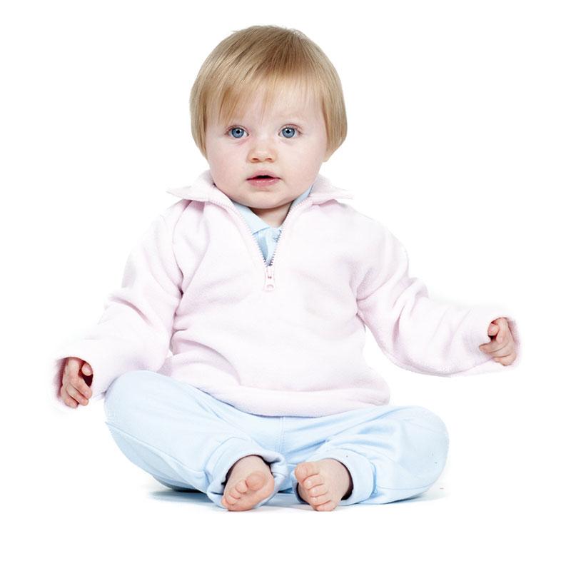 Larkwood Baby/Toddler Zip Neck Micro Fleece