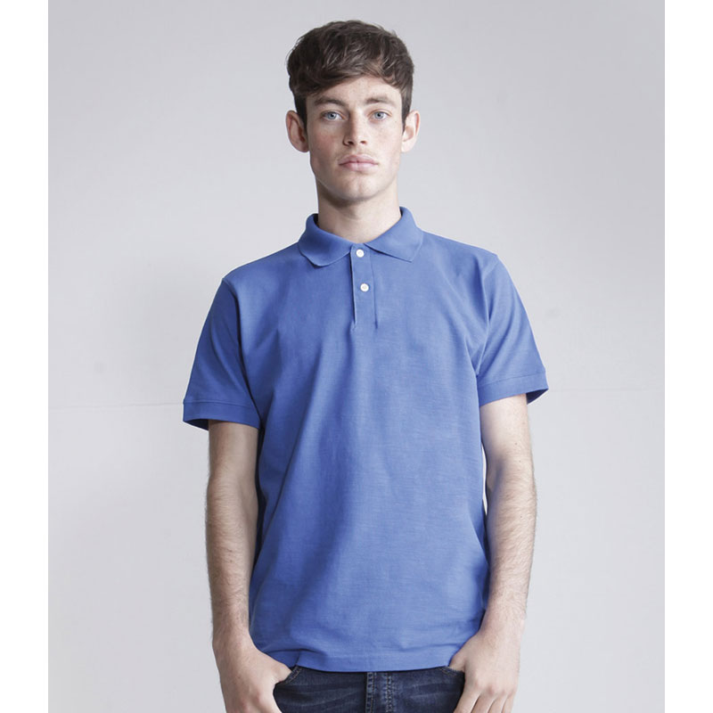 SFMen Cotton Slub Polo Shirt