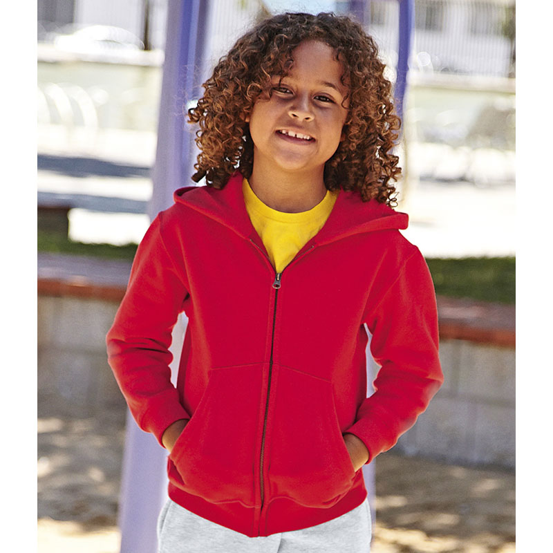 Fruit of the Loom Kids Classic Zip Hooded Sweatshirt