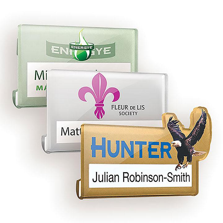 Acrylic Name Window Badge -Full Colour