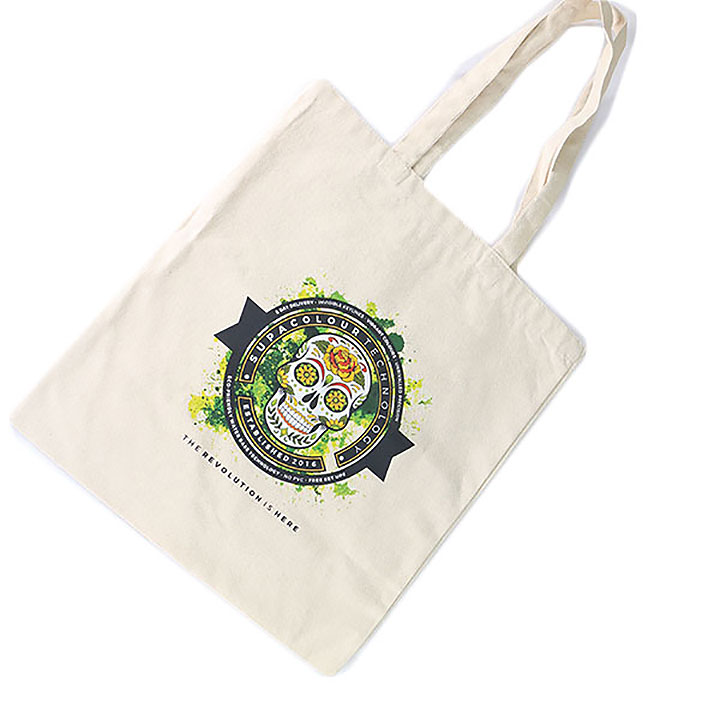 5oz Natural Recycled Cotton Shopper - Full Colour