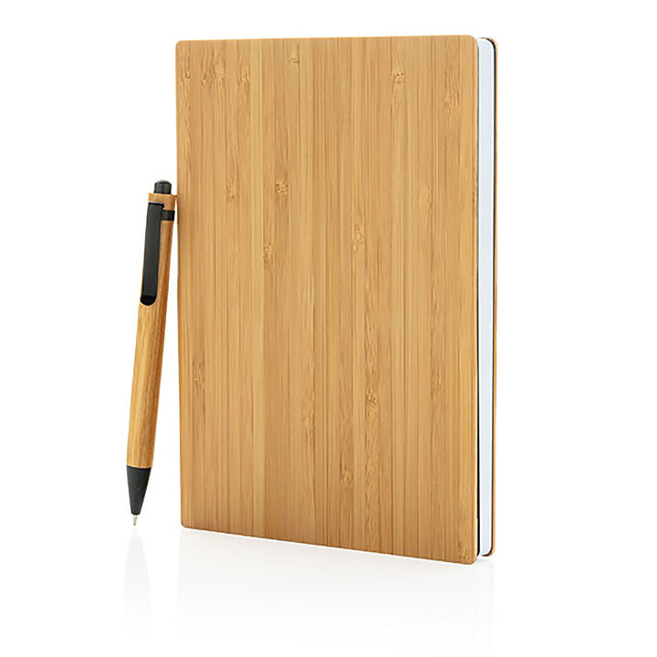 Bamboo A5 Notebook & Pen Set