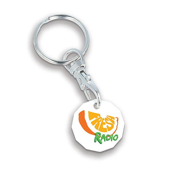 Plastic Trolley Token Key Ring