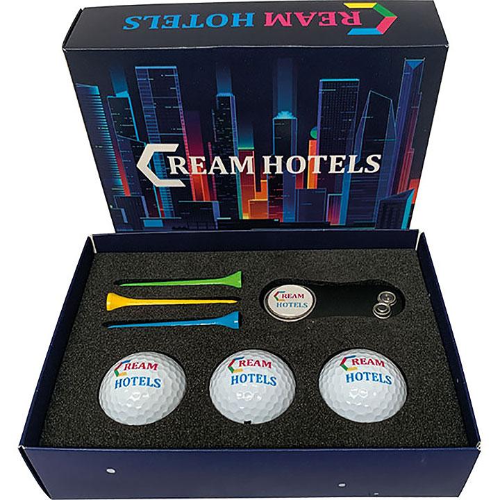 Card Gift Box - Golf Balls, Tees & Divot Tool