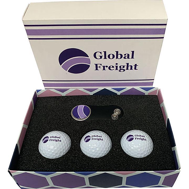 Card Gift Box - Golf Balls & Divot Tool