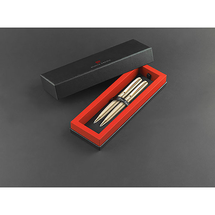 Pierre Cardin Lustrous Ballpen and Mechanical Pencil Set