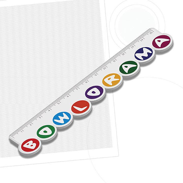 Recycled 150mm Custom Shaped Ruler