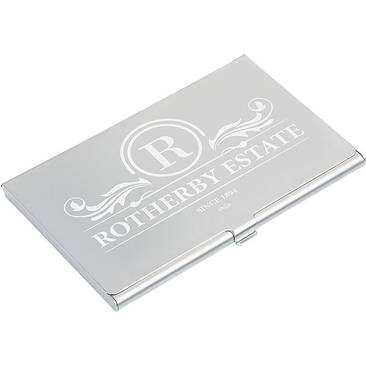 Aluminium Business Card Holder - Engraved