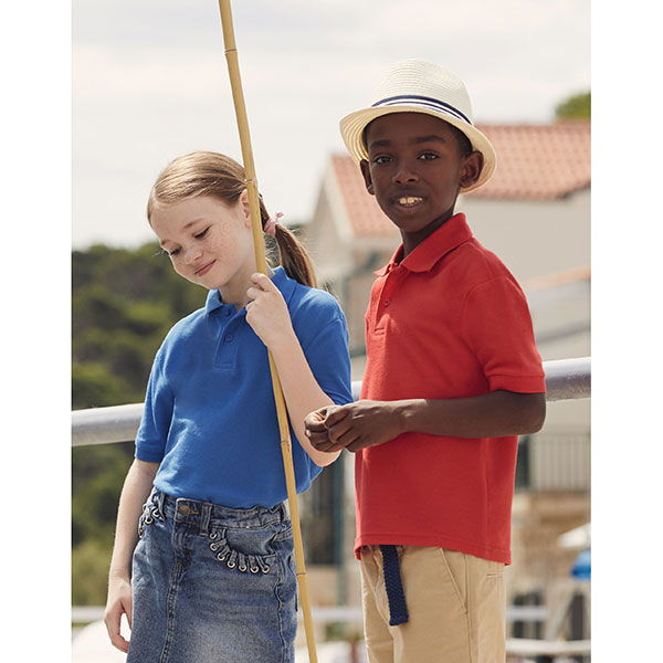 Fruit of the LoomChildrens 65/35 Pique Polo Shirt