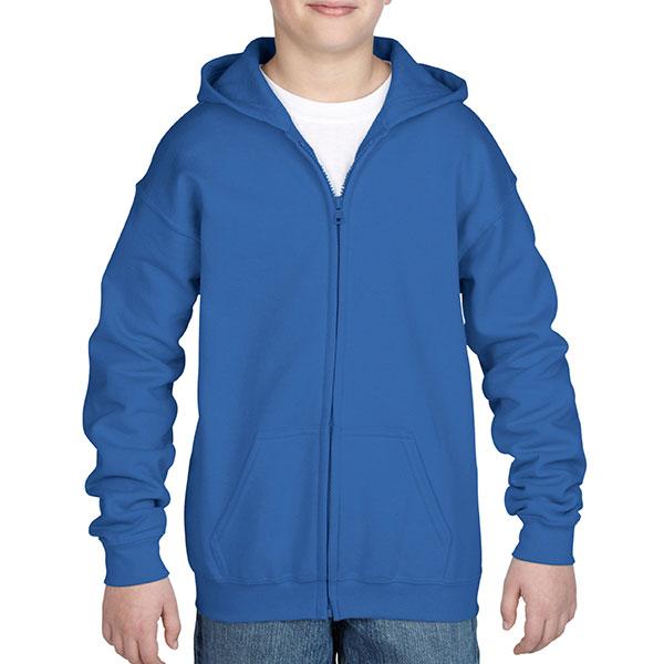 Gildan Childrens Zipped Hooded Sweat