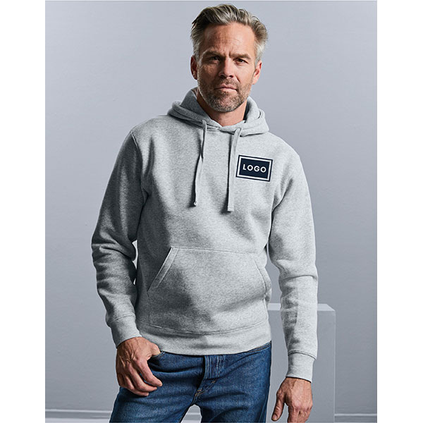 Russell Mens Authentic Hooded Sweat