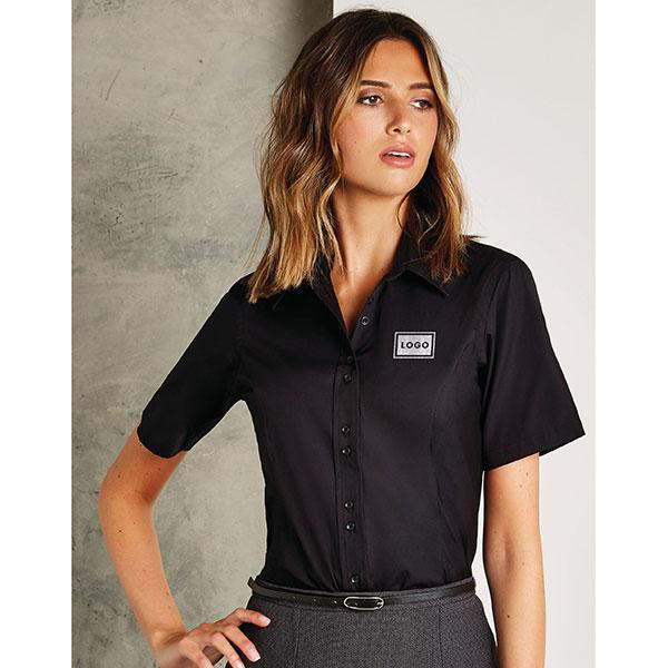 Kustom Kit Ladies City Short Sleeve Blouse