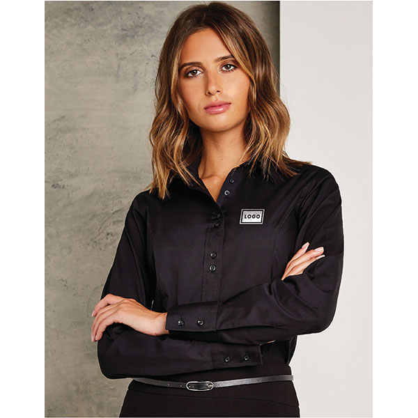 Kustom Kit Ladies City Long Sleeve  Blouse