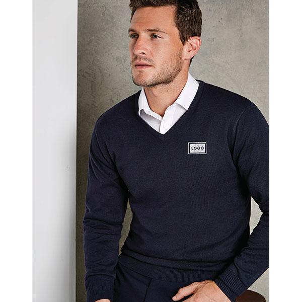 Kustom Kit Mens Arundel V Neck Sweater