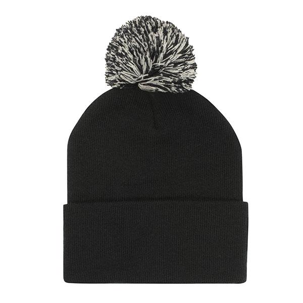 Acrylic Pom Pom Beanie Hat