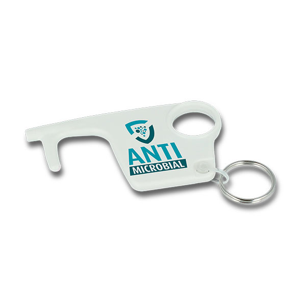 Antimicrobial Recycled Plastic No Touch Hygiene Key Ring