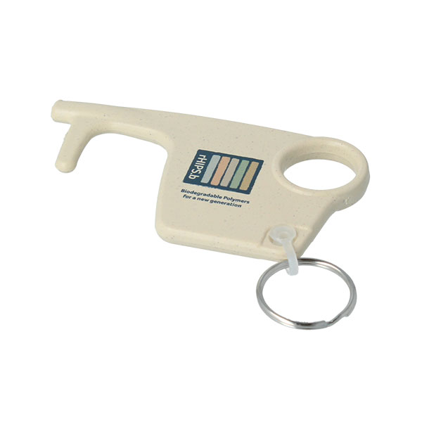rHIPS.b Recycled Plastic No Touch Hygiene Key Ring