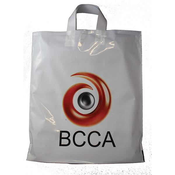 Biodegradable CMYK Digital Flexi Loop Carrier Bag