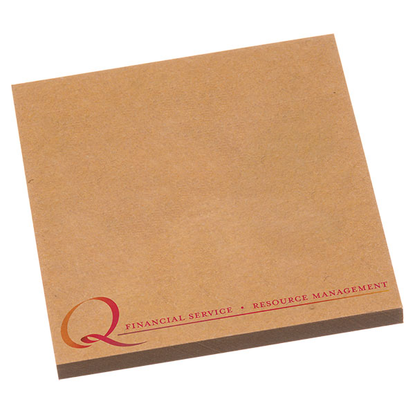 NoteStix Kraft Recycled Adhesive Pads 75 x 75mm - Full Colour