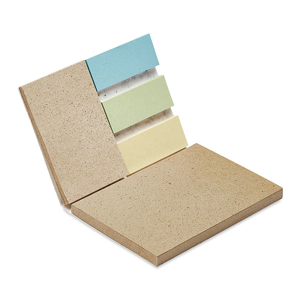Seeded Soft Cover Adhesive Note Set