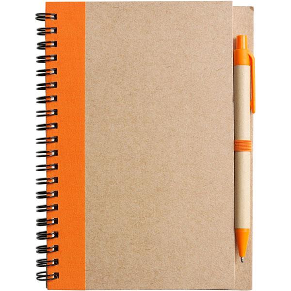 Eco Wirobound Notebook with Pen