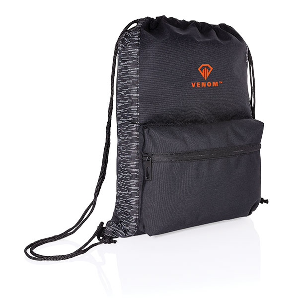 Impact AWARE rPET Reflective Drawstring Backpack