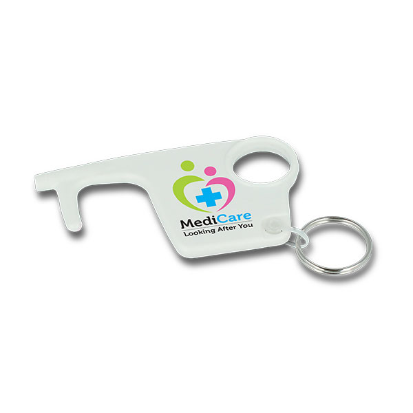 Recycled Plastic No Touch Hygiene Key Ring