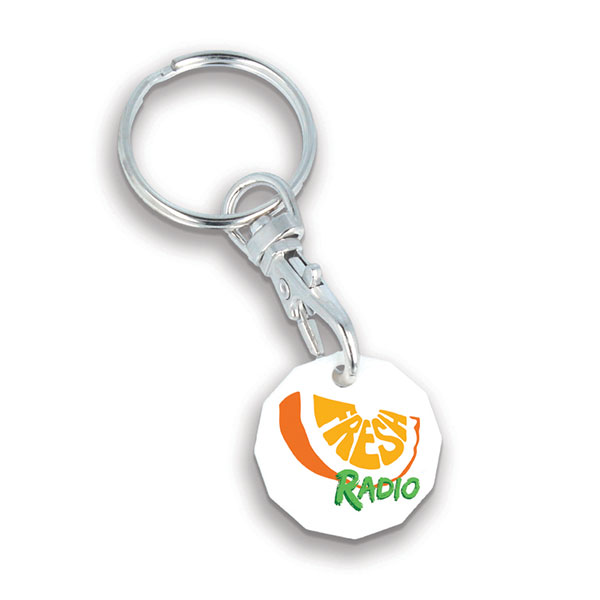 Recycled Plastic Trolley Token Key Ring