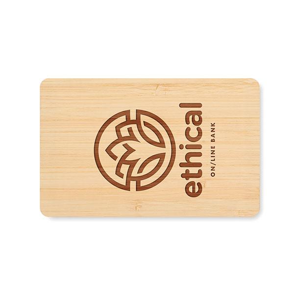 RFID Anti-Skimming Card in Bamboo Case