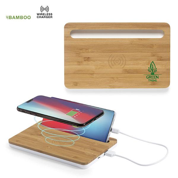 Bamboo Organiser Wireless Charger