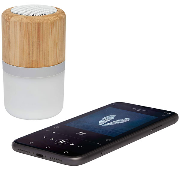 Avenue Bamboo Bluetooth Speaker with Light