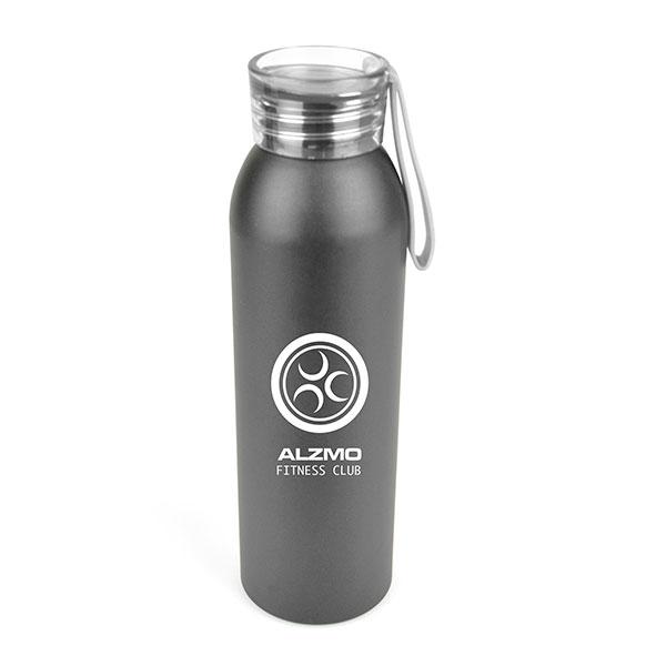 Black Aluminium Sports Bottle 650ml